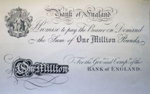 Eine Million Pfund mit der Unterschrift der Königin.