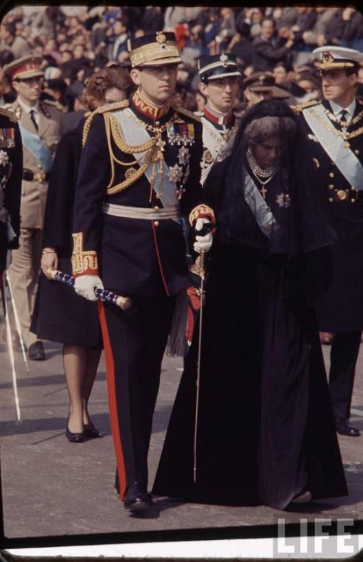 König Konstantin II. und die Königswitwe Friederike.