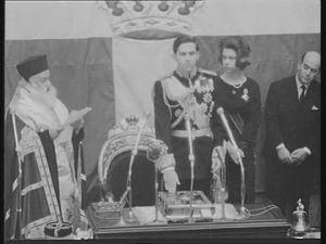 Proklamation König Konstantins II. 1964