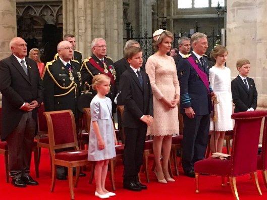 Die königliche Familie während des Te Deums am 21. Juli 2016.